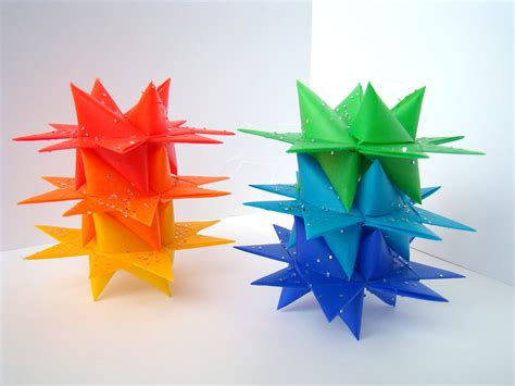 Moravian Origami - rainbow moravian set of 6 183 origami delights