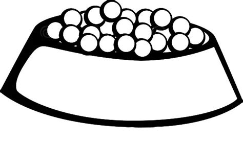 dog treat coloring page bowl coloring page clipart best