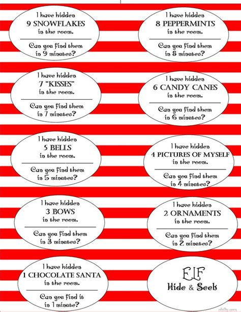 printable elf on the shelf scavenger hunt pin by angie stegall on christmas pinterest