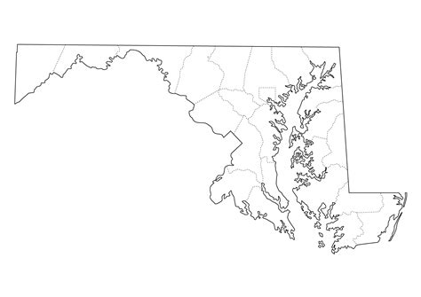 maryland map blank maryland state map printable afputra