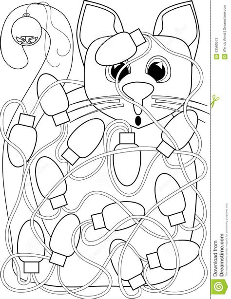Christmas Tree Lights Coloring Pages at GetColorings.com