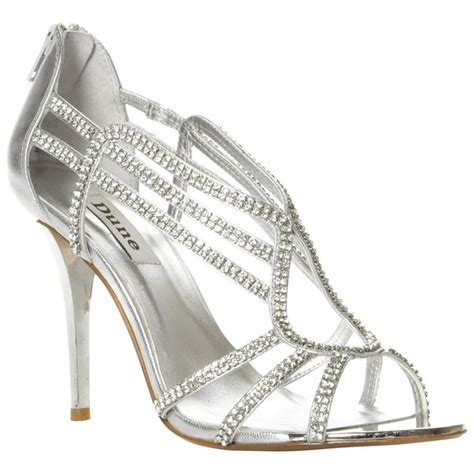 strappy silver sandals leather diamante silver strappy sandals bridesmaid shoes