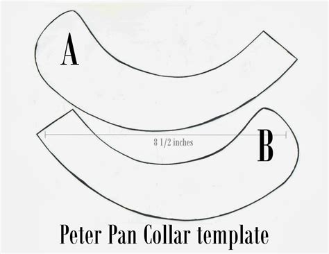 collar template printable pan collar patterns patterns kid