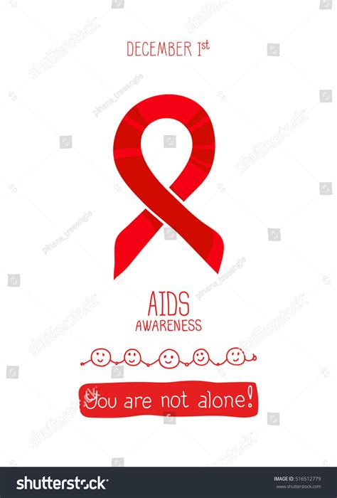 aids template world aids day 1st december vector stock vector 516512779