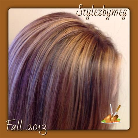 Gorgeous Tricolor Highlight Lowlight Pieced Haircolor It S All About The Hair Lots Of Pretty Fall Lowlights Fall Hair Highlights Toned And Tri Colored Lowlights Hair