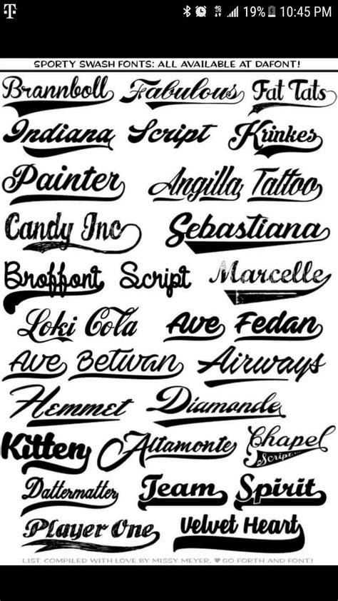 sporty swash fonts  dafont cricut cricut fonts baseball font sports fonts