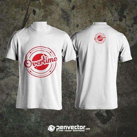 overtime  shirt design mock   vector