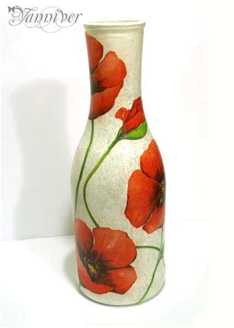 How To Decoupage A Vase - decoupage vase poppy by yanniver on deviantart