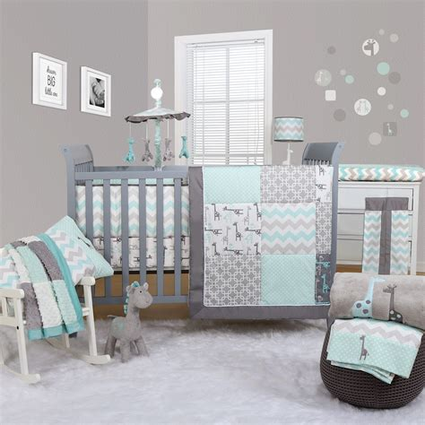 Peanut Shell Uptown Giraffe 5 Piece Bedding Set Cot Giraffe Nursery Bedding Set