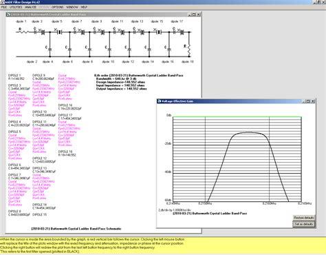ui pattern filter crystal ladder filters software sq2gxo