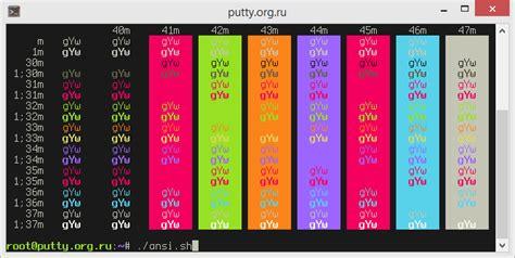 bash color scheme bash putty monokai color scheme manually stack overflow