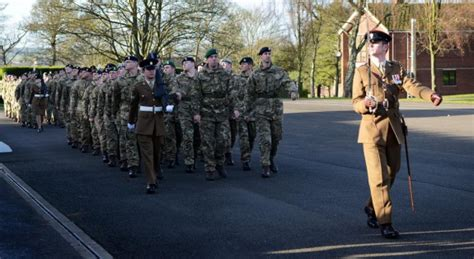 prince william of gloucester barracks army reservists march into their new careers east