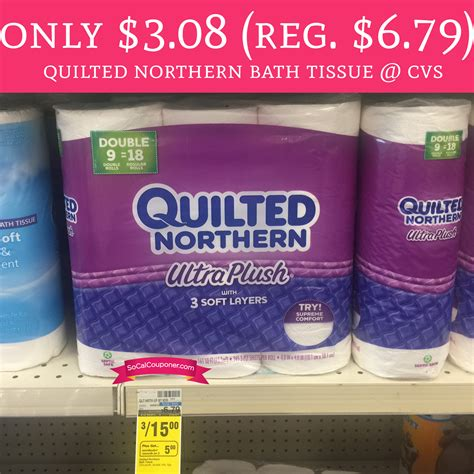 regular  quilted northern bath tissue  cvs deal hunting babe