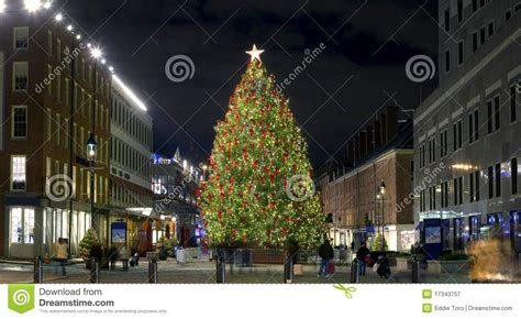 christmas south street seaport royalty free stock