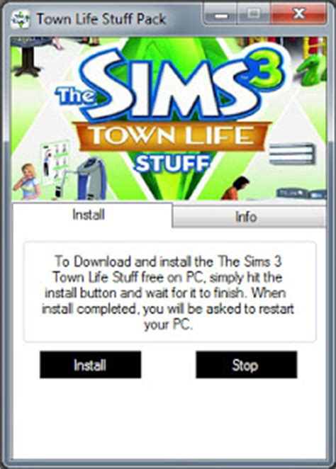 the sims 3 town life stuff pack free game download free the sims 3 town life stuff pack free