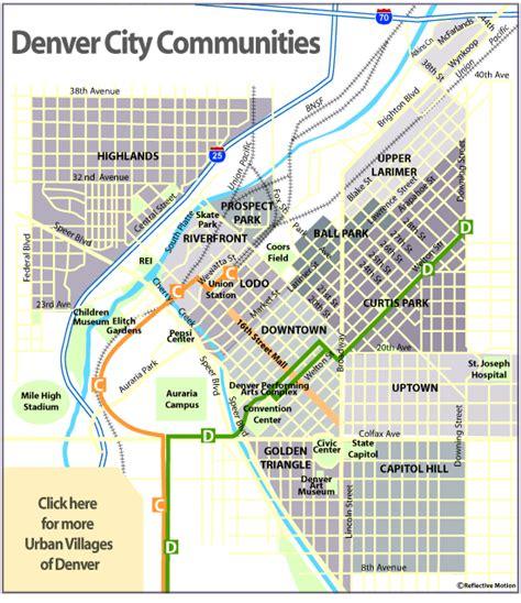 denver city map denver loft homes and real estate colorado info and