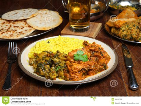 indian curry dinner indian curry meal food on table royalty free stock image
