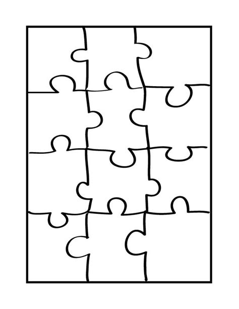 Printable Blank Puzzle Pieces Clipart Best Puzzle Template Free