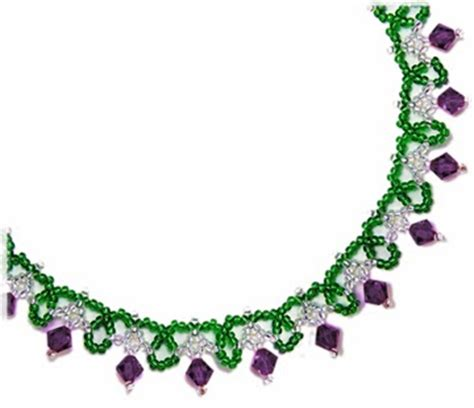 free bead patterns and ideas simple sparkle necklace