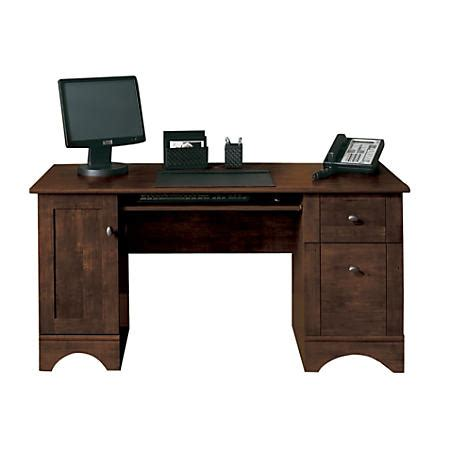 Office Depot Desks On Sale Realspace Dawson 60 Computer Desk Cinnamon Cherry By Office Depot Officemax
