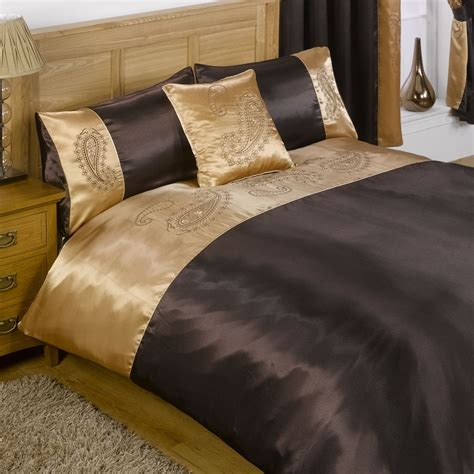 Single Bedding And Curtain Sets Sakkara Single Bed And Curtain Set Chocolate Brown From Litecraft