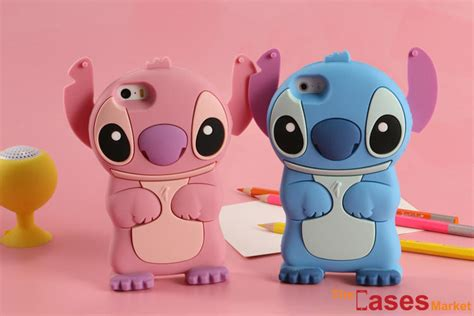 Rubber 4d Stitch Xiaomi Redmi Note 3 Note 3 Pro capa stitch 3d azul rosa iphone 7 ou 7 plus the cases market