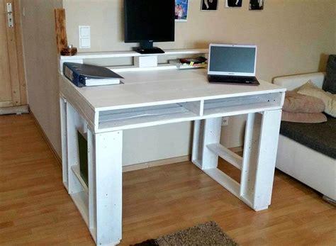 Pallet Computer Desk Diy Custom Pallet Table Ideas