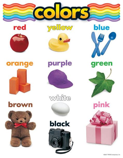 learning colors learning colors picture book ages 2 7 for toddlers preschool kindergarten fundamentals series books basic color chart with names inc teachers essentials