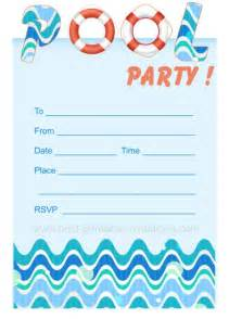 pool invites free printable invites from www best printable invitations