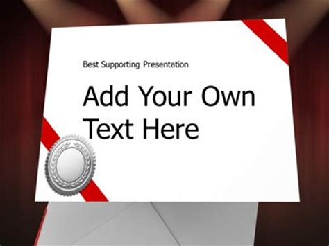 Award Letter Presentation Envelope A Powerpoint Template From