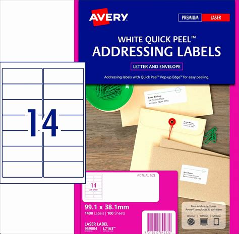14 Address Label Template