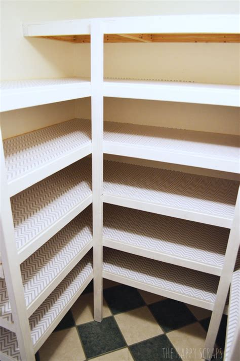 Building Pantry Shelves Design by Diy Functional Pantry Shelving The Happy Scraps