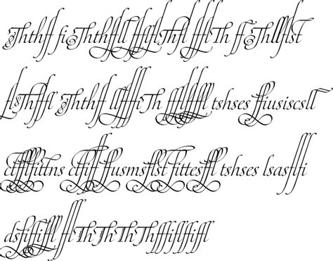tattoo fonts joined up these fancy cursive letters are from a copy of the ladies