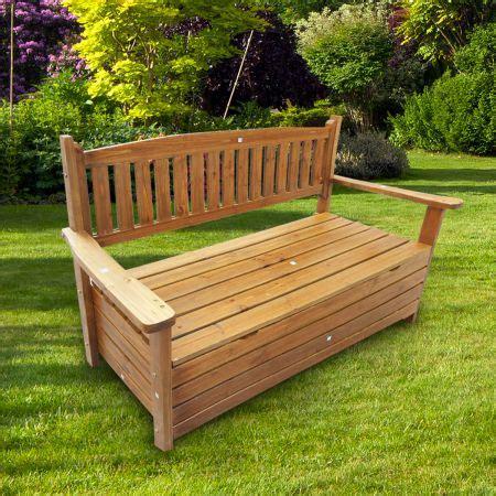 wooden garden bench with storage wooden garden storage bench crazy sales