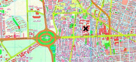 map of tehran iran image gallery naghshe tehran