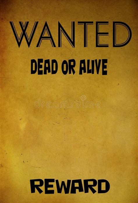 wanted dead or alive poster template free vintage wanted poster template stock image image 40423803
