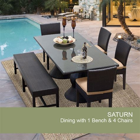 Patio Dining Sets For 4 Rectangular Patio Dining Table Outdoor Dining Table With Bench