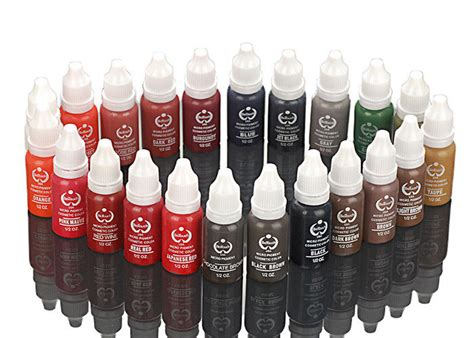 tattoo ink dry pigment 24 colors biotouch permanent makeup pigments for face