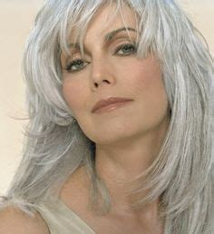 how to update gray hair with color for women over 70 long hair hairstyle for women over 50 fine and thinning