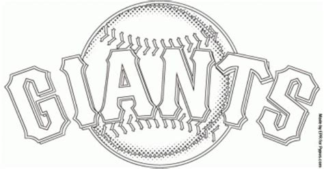San Francisco Giants Logo Baseball Team From The National San Francisco Giants Coloring Pages
