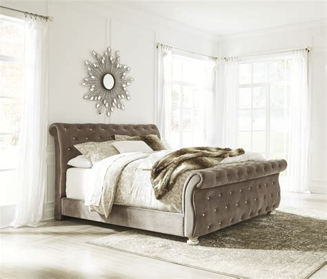 ashley furniture upholstered bed ashley furniture cassimore upholstered beds the classy home