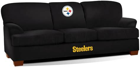 steelers couch pittsburgh steelers first team microfiber sofa