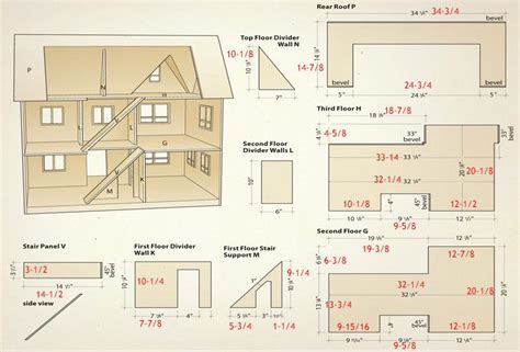 free dollhouse floor plans dolls house floor plans free