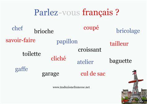 parola di 10 lettere le parole francesi nella lingua italiana traduzione