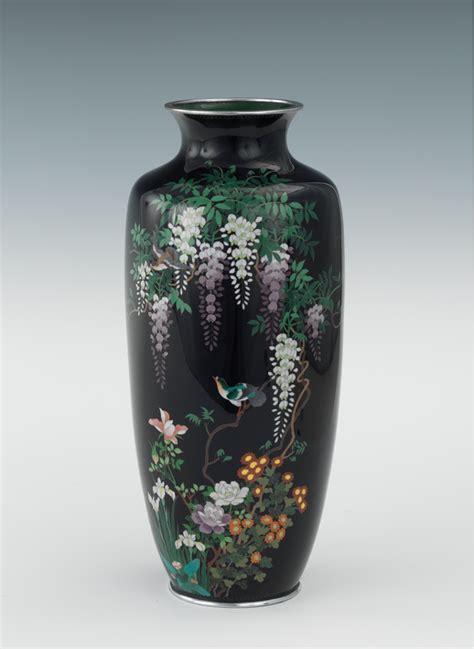 Rare Vases Antique A Japanese Cloisonne Vase Third Mark Of Ota Kichi 09 03