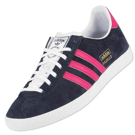 exclusive adidas originals gazelle og navy pink trainers womens shoes size ebay