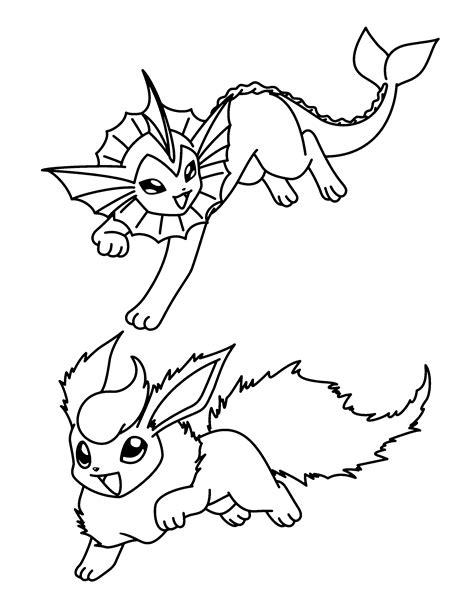 pokemon coloring pages vaporeon pokemon flareon coloring pages coloring home