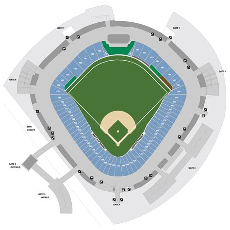 white sox stadium seating guaranteed rate field map chicago white sox