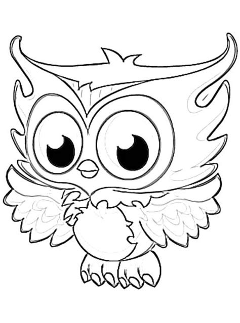 Pictures Of Owls To Color by Enchanting Owl To Color Image Collection Exle Resume