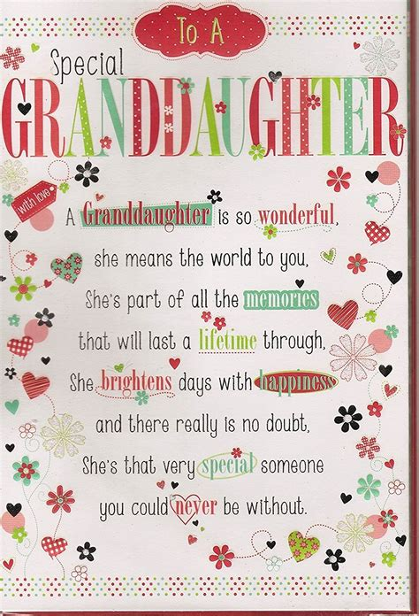 birthday granddaughter card